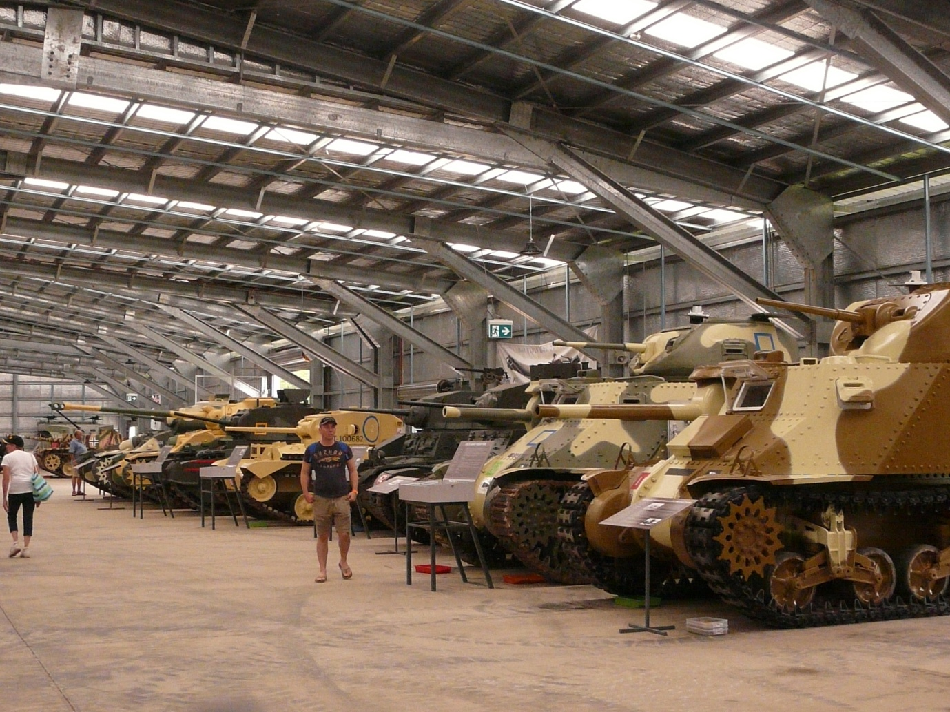 A selection of tanks in the main hall.