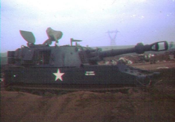 AMERICAN 155mm HOWITZER at FSB ANDERSEN Photo: SPR Brian Hopkins 3 Troop