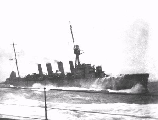 IMAGE HMAS Melbourne in heavy seas 1917 Sea Power Centre - Australia