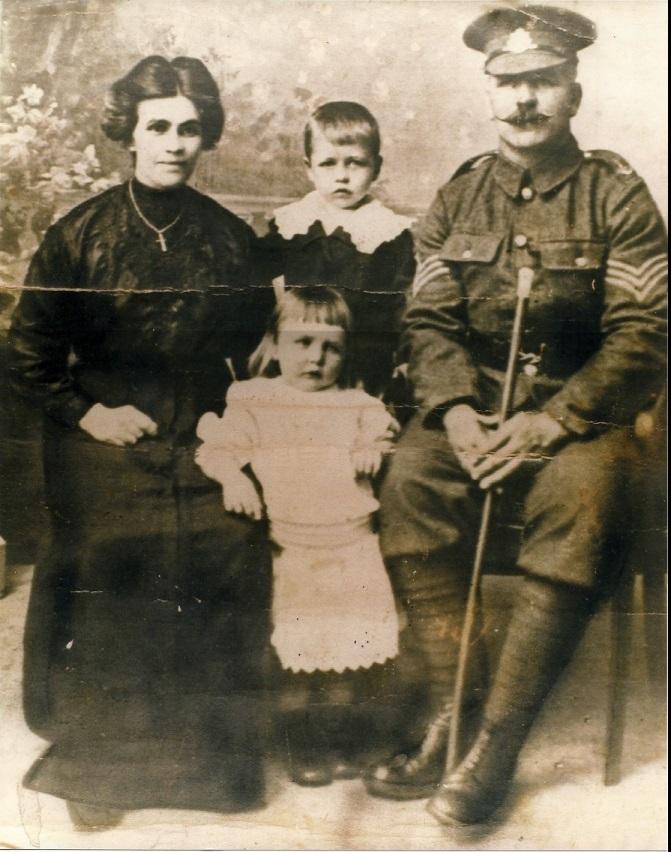 Edward and Jane Keenan and sons James (b1912) and Edward (b1914) c1919 Keenan Family Collection